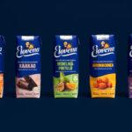 Elovena brand identity packaging by BOND